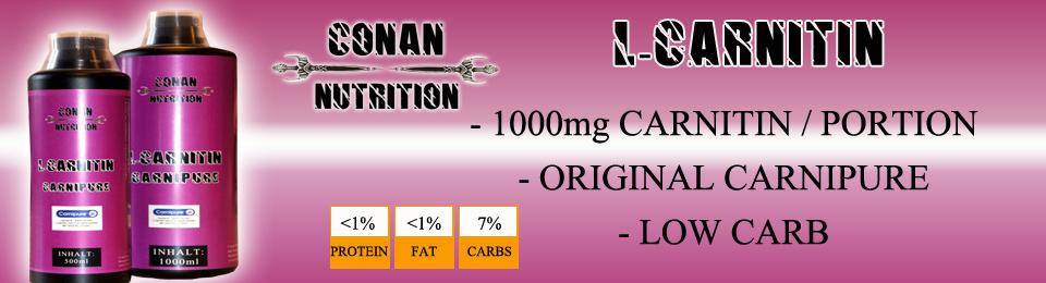 Banner CONAN NUTRITION Carnitin