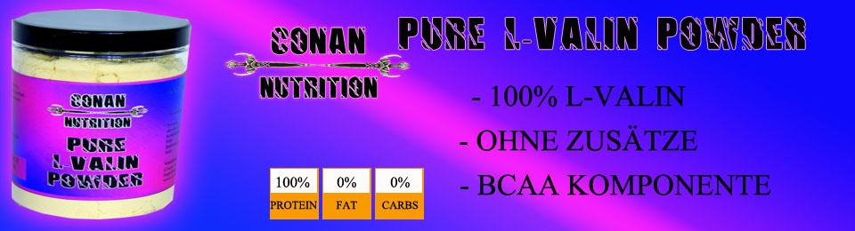 Banner Conan Nutrition L-Valin