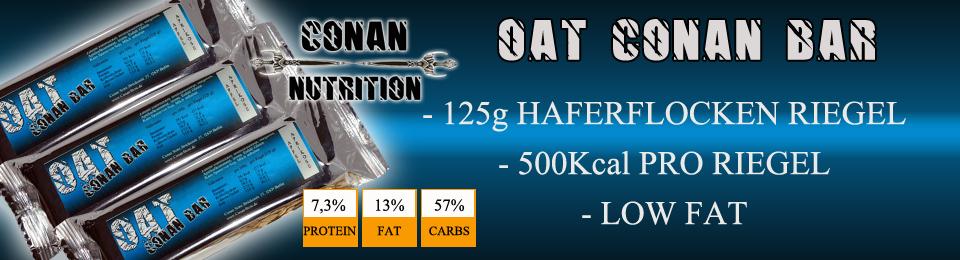 Banner Conan Nutrition oat bar