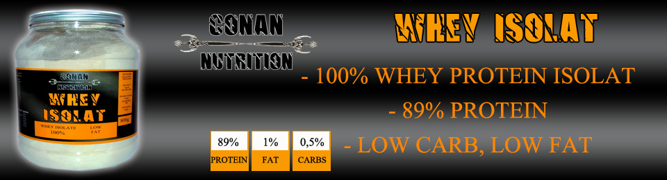 Banner Conan Nutrition whey isolate