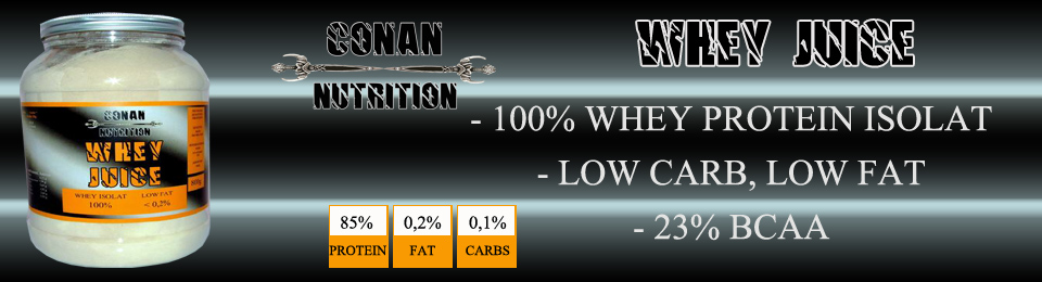 Banner Conan Nutrition whey juice