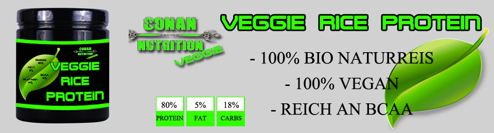Conan Nutrition VEGGIE RICE PROTEIN BANNER GROSS