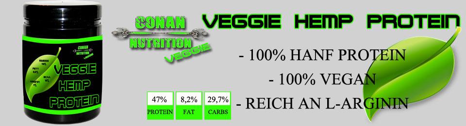 banner conan nutrition veggie hemp Protein