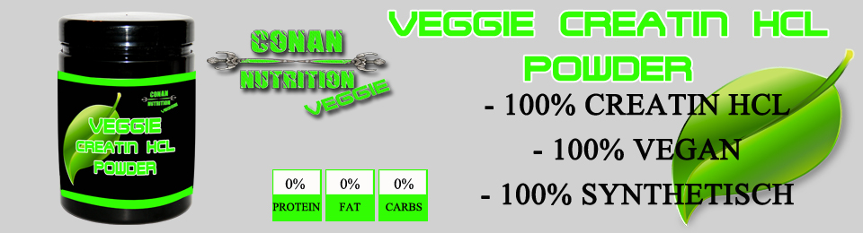 banner Conan Nutrition Veggie Creatin HCL Powder