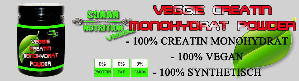 banner Conan Nutrition veggie Creatin Monohydrat Powder